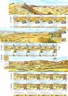 ISRAEL STAMPS 2014 ANCIENT CRATERS  IMPERFORATE SHEETS M.N.H.