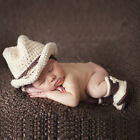 Baby Cowboy Hat Crochet Infant Toddler Photo Props Knitted Caps Photograph Cap