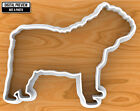 Bulldog Dog Cookie Cutter, Selectable sizes