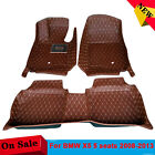 For BMW X5 5 seats 2008-2013 Interior Y2R3 Floor Mat Leather Carpet Yes 3pcs/set