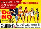 James Bond 007 Dr No Movie Poster A5 A4 A3 A2 A1 £11.15 GBP
