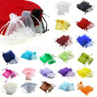 WHOLESALE 30/100pcs Organza Jewelry Packing Pouch Wedding Favor Gift Bags 2 SIZE