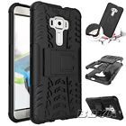 Various Phones Protective Case Dual Layer Rugged Armor Stand Cover Shockproof