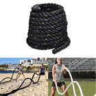 38mm TRAINING BATTLING BATTLE POWER ROPE SPORT EXERCISE FITNESS BOOTCAMP 12M 9M