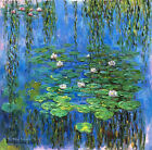 Handmade Impression of thick Oil Painting Art repro Water Lilies on Canvas Wat07