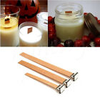 3 5 10PCS DIY Wooden Wick Candle Core Perfect Sustainers In Soy Paraffin Making