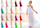Chiffon Formal Evening Bridesmaid Dresses Party Ball Prom Gown Dress UKSize 6-20