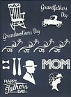 LOTS 4 - 18 PCS. MOTHER FATHERS DIE CUTS* MOTHER FATHER DAY GRANDPARENT *READ!