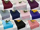 14 x 60 inch Polyester Table Runners, Multiple Colors & Multiple Sizes