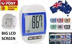Blue Large LCD Waterproof Step Pedometer Sport Calorie Counter Walking Distance