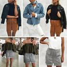 Women High Waist Lace Up Suede Leather Pocket Ladies Short A-line Skirt Dress