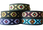 10m EMBROIDERED RIBBON TRIM*AZTEC*TRIBAL*ETHNIC*25mm width Various colours