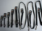 NYLON DOG COLLARS AND LEADS BLACK SMALL - LARGE