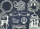 LOTS 4-12 PCS SUB-SETS SPECIAL CHRISTMAS 3 DIE CUTS* WREATH KINGS GARLAND *READ!