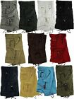 Mens 100% Cotton Solid Color Military Cargo Shorts, Sizes 30 to 54 #A8S
