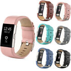 Genuine Leather Replacement Watch Strap Bracelet Wrist Band For Fitbit Charge 2