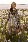 Anthropologie Women's Nwt Far Fields Midi Dress Size 4