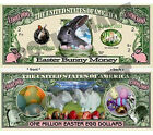 Easter Bunny One Million Bill Novelty Notes 1 5 25 or 50
