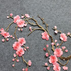 Lovely Embroidered Plum Blossom Flower Patch Iron/Sew on Applique Motif Craft rr