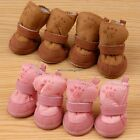 HOT Snow Boots Pet Dog Chihuahua Boots Puppy Shoes Brown For Small Dog NC89