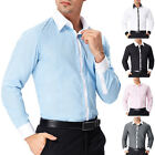 MEN'S STYLISH SOLID BUTTON DOWN LONG SLEEVE CASUAL DRESS FORMAL SHIRTS S M L XL