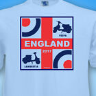 ENGLAND ScOOteR 2017 MoD sKa Football Rugby Northern Soul Fan MENS T-Shirt