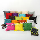 16'' Mirror Work Indian Cushion Cover Pillow Case Ethnic Throw Decorative Art
