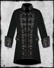 "MEN'S ""BLACK SAILS"" PIRATE JACKET Leather Steampunk Goth Vampire Military Coat"