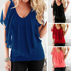 Fashion Womens Summer Loose Top Short Sleeve Blouse Ladies Casual Tops T-Shirt ❤