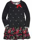 Deux par Deux Girls' Sweatshirt Dress Music Hall, Size 12
