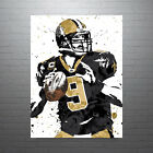 Drew Brees New Orleans Saints Poster FREE US SHIPPING