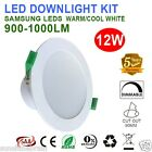 6X 12W SAA IP44  DIMMABLE LED DOWNLIGHTS KITS 90MM CUTOUT WARM/ COOL  5 YEARS