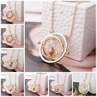 Harry Potter Time Turner Hermione Granger Spins Hourglass Gold Chain Necklace