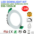 6X 13W LED DOWNLIGHTS KITS DIMMABLE 90MM CUT OUT WARM/ COOL WHITE DOWN LIGHTS