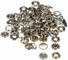 Cap or Ring Brass Snap Fastener Press Stud for Leather Craft Sewing 9.5/10/11mm