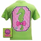 Girlie Girl Originals T-Shirt - Preppy Seahorse With Bow Tie - Comfort Colors