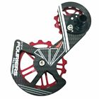 FOURIERS Carbon Derailleur Cage Ceramic Jockey Pulley Drivetrain , Red