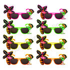 12X PALM TREE FLAMINGO SUNGLASSES HAWAIIAN SUMMER FANCY DRESS COSTUME HEN PARTY