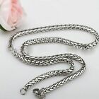 Mens 18-36inch Steel 3/4/5/6MM Chain Womens Necklace Braided Silver Stainless