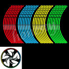 16X Motorcycle Car Bicycle sticker reflective wheel hub Tire rims stickers New