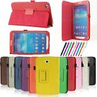 """PU Leather Folio /360 Case Cover for Samsung Galaxy Tab 3 7.0"""" Tablet T210 P3200"""