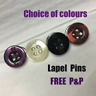 NEW MENS PAUL SMITH PS PEARLY BLACK PURPLE TAN SHIRT BUTTON TIE TACK LAPEL PIN