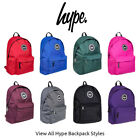 Hype Backpack Rucksack School Bag Classic Various Single Plain Mono Colour Style