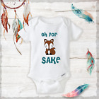 Oh For Fox Sake Turquoise Onesies Baby Fox Clothing Boy/Girl