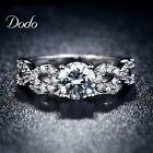 Fashion Wedding Rings for women white gold plated CZ jewelry ring vintag