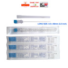 "1 2 3 4 5 10 LONG STERILE NEEDLES, 23G BLUE 0.6 x 88 mm, 3,5"" INK REFILL FAST"