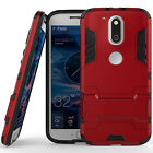 Moto G4/G4 Plus Dual Layer Hybrid Rugged Case Shockproof Cover w/ Kickstand