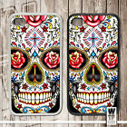 Sugar Skull | Rubber or plastic phone cover case | Day Of The Dead Tattoo Rose