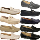 NEW LADIES LOAFER SHOES FAUX LEATHER WORK OFFICE WEAR WOMEN SHOES UK SIZES 3-8