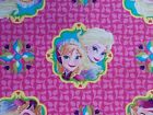 Frozen Fabric Sisters Elsa Anna Framed Pink Quilting Cotton Sewing FQ, BTHY, BTY